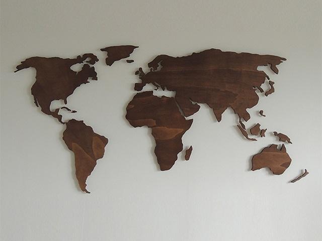 Verwonderlijk Houten wereldkaart XL ~ Paspartoet %Paspartoet UC-19