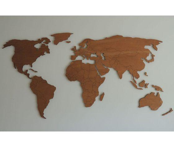Verrassend Houten wereldkaart XL met landgrenzen ~ PaspartoetPaspartoet IZ-43
