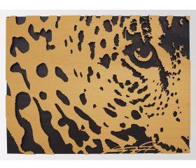 XL Houten luipaard close up 3D