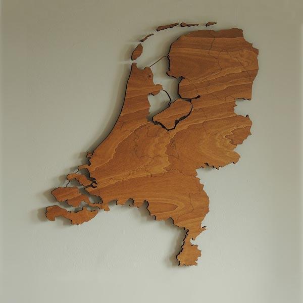Houten landkaarten