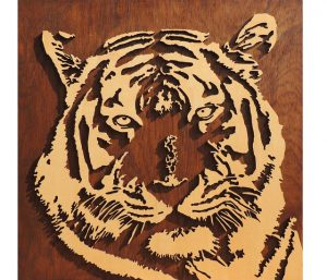 wooden tiger wall decoration
