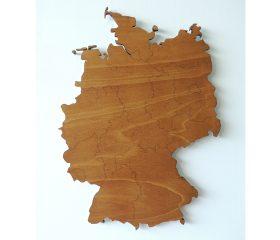 Houten landkaart Duitsland met deelstaten
