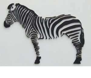 wooden zebra wall decoration