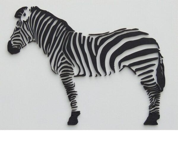 houten zebra wanddecoratie
